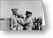 Tuskegee Greeting Cards - Wwii: Flying Cross Awards Greeting Card by Granger