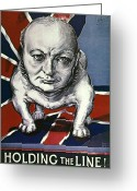 Sir Greeting Cards - Wwii:churchill Poster 1942 Greeting Card by Granger