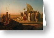 Great Painting Greeting Cards - Xerxes at the Hellespont Greeting Card by Jean Adrien Guignet