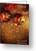 Seasonal Greeting Cards - Xmas Balls Greeting Card by Carlos Caetano