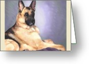 German Shepard Digital Art Greeting Cards - Xohzer Greeting Card by Michelle Guillot