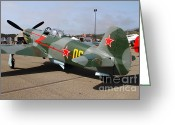 Yak Greeting Cards - Yak 9U Airplane . 7d15792 Greeting Card by Wingsdomain Art and Photography