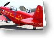 Yak Greeting Cards - Yak 9U Airplane . 7d15801 Greeting Card by Wingsdomain Art and Photography