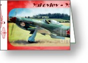 Yak Greeting Cards - Yakovlev - Yak 9 Greeting Card by Arne Hansen