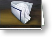 Yale Painting Greeting Cards - Yale University School of Nursing Greeting Card by Marlyn Boyd