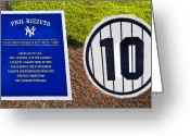 Baseball Artwork Greeting Cards - Yankee Legends number 10 Greeting Card by David Lee Thompson