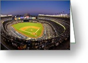 Fisheye Greeting Cards - Yankee Stadium Greeting Card by Steve Zimic