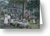 Catonsville Greeting Cards - Yard Sale Greeting Card by Edward Williams