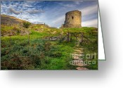 Fence Digital Art Greeting Cards - Ye Olde Path  Greeting Card by Adrian Evans