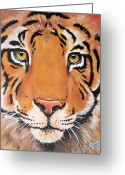 Noah Greeting Cards - Year of the Tiger Greeting Card by Laura Carey