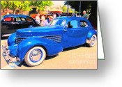 Vehicles Digital Art Greeting Cards - Years Gone By . 40D9311 Greeting Card by Wingsdomain Art and Photography