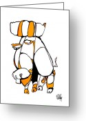 Dan Daulby Greeting Cards - Yello Bull Greeting Card by Dan Daulby