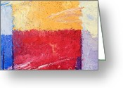 Yellow And Red Greeting Cards - Yellow and Red Greeting Card by Lutz Baar