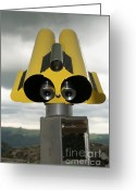 Telescope Greeting Cards - Yellow binoculars Greeting Card by Bernard Jaubert