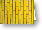 Tom Biegalski Greeting Cards - Yellow brick wall Greeting Card by Tom Biegalski