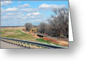 The Mother Road Greeting Cards - Yellow Bridge on Route 66 Greeting Card by Susanne Van Hulst