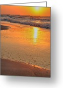 Ocean Scenes Greeting Cards - Yellow Bubbles Greeting Card by Emily Stauring