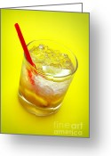 Chill Greeting Cards - Yellow Caipirinha Greeting Card by Carlos Caetano