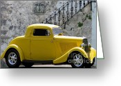 Most Mixed Media Greeting Cards - Yellow Coupe Hardtop Greeting Card by Jerry L Barrett