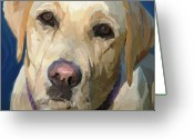 Hunting Dogs Greeting Cards - Yellow Dog Greeting Card by Patti Siehien