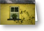 Ireland Greeting Cards - Yellow House County Clare Ireland Greeting Card by Teresa Mucha