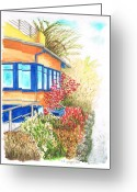 Arquitectura Greeting Cards - Yellow-house-venice-california Greeting Card by Carlos G Groppa