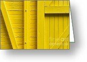 Abstract Bright Color Greeting Cards - Yellow Greeting Card by John Greim