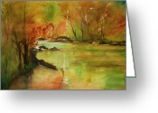 Photographs Painting Greeting Cards - Yellow Medicine river Greeting Card by Julie Lueders