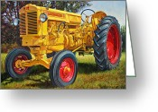 Photo-realism Painting Greeting Cards - Yellow MMZ Greeting Card by Paul Baldassini