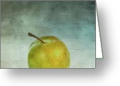 Food And Beverage Digital Art Greeting Cards - Yellow plum Greeting Card by Bernard Jaubert