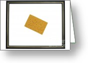 Inside Of Greeting Cards - Yellow sponge inside picture frame Greeting Card by Sami Sarkis
