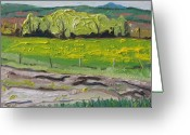 Contry Greeting Cards - Yellow Spring Movement Ways Mill Quebec Canada  Greeting Card by Francois Fournier