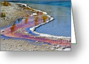 Prismatic Greeting Cards - Yellowstone Abstract I Greeting Card by Teresa Zieba