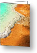 Hot Springs Greeting Cards - Yellowstone Abstract Greeting Card by Sebastian Musial