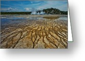 Hot Springs Greeting Cards - Yellowstone Blood Vessels Greeting Card by Dan Mihai