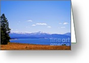 Wall Calendars Greeting Cards - Yellowstone Lake Greeting Card by Brent Parks