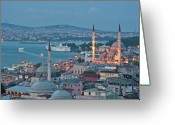 Minaret Greeting Cards - Yeni Camii Greeting Card by Salvator Barki