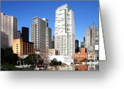 Mario Art Greeting Cards - Yerba Buena Garden 2 Greeting Card by Wingsdomain Art and Photography