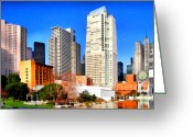 Mario Art Greeting Cards - Yerba Buena Garden In San Francisco California . 7D4262 Greeting Card by Wingsdomain Art and Photography