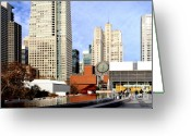 Mario Art Greeting Cards - Yerba Buena Garden in San Francisco Greeting Card by Wingsdomain Art and Photography