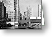 Mario Art Greeting Cards - Yerba Buena Garden San Francisco . Black and White Photograph 7D3959 Greeting Card by Wingsdomain Art and Photography