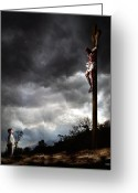 Religious Mixed Media Greeting Cards - Yes Jesus Loves Me Greeting Card by Mark Spears