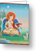 Thanka Greeting Cards - Yeshe Tsogyal Greeting Card by Sergey Noskov