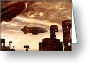 Science-fiction Art Greeting Cards - Yesterday Greeting Card by Bob Orsillo