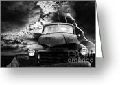 Airplanes Digital Art Greeting Cards - Yesterday Came Early . Tomorrow Is Almost Over . bw Greeting Card by Wingsdomain Art and Photography