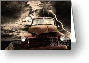 Trucks Greeting Cards - Yesterday Came Early . Tomorrow Is Almost Over Greeting Card by Wingsdomain Art and Photography