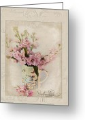 Cottage Chic Greeting Cards - Yesterdays Letter  Greeting Card by Sandra Rossouw