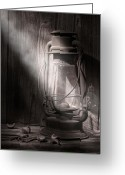 Rustic Photo Greeting Cards - Yesterdays Light Greeting Card by Tom Mc Nemar