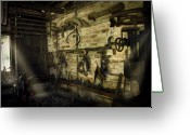 Barn Greeting Cards - Yesterdays Technology Greeting Card by Cecil Fuselier