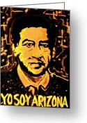 Civil Rights Greeting Cards - Yo Soy Arizona Greeting Card by Michelle Wilmot
